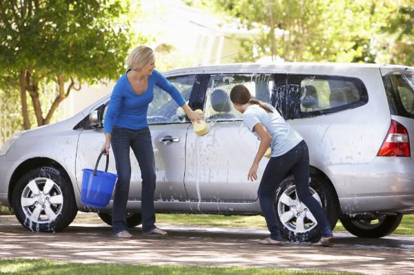 Mycie wstępne samochodu